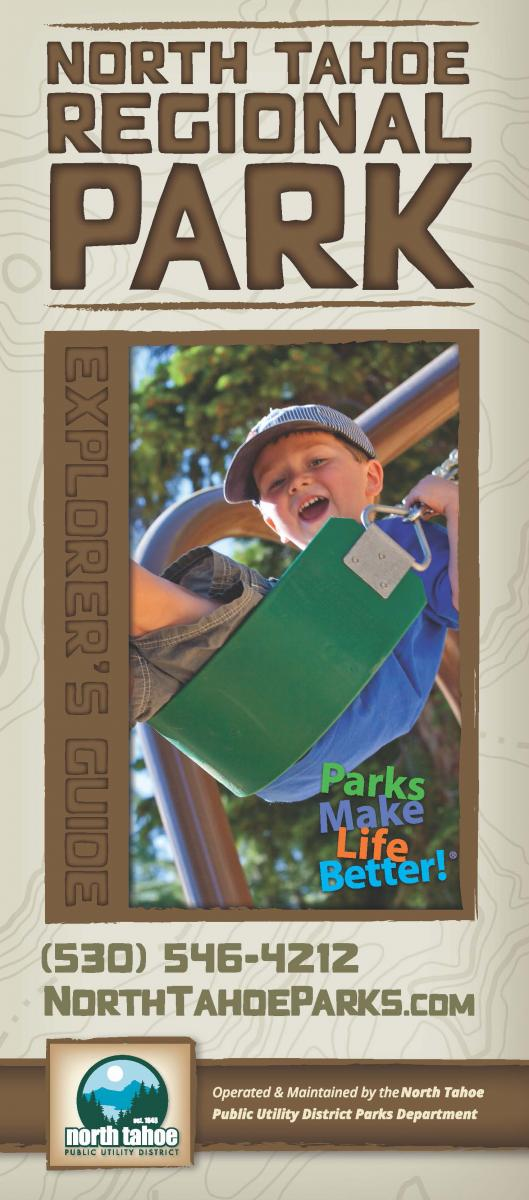 North Tahoe Regional Park Map cover