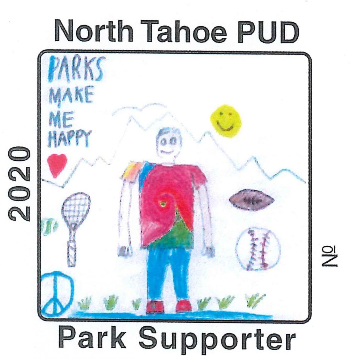 North Tahoe PUD Park Supporter sticker
