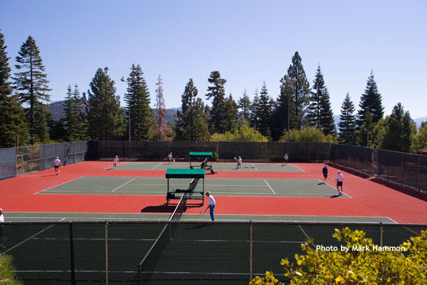 Tennis Court on beautiful day