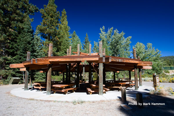 Community area with fire pit, photo by Mark Hammon