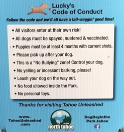 Lucky's Code of Conduct