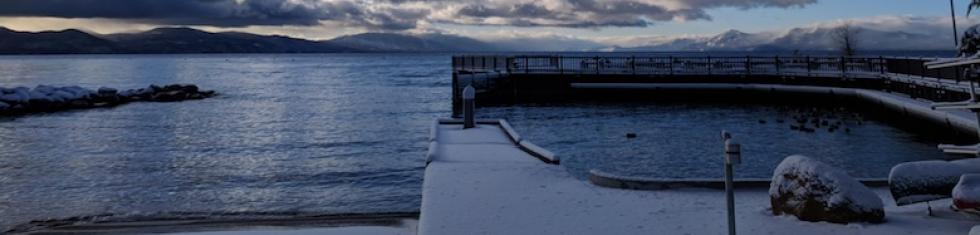 Boat launch in the winter